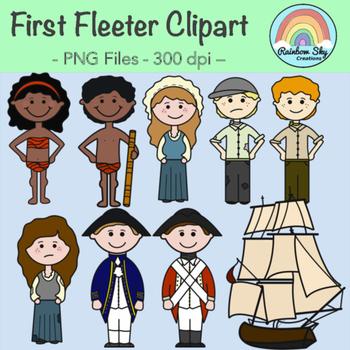 First Fleet Clipart.