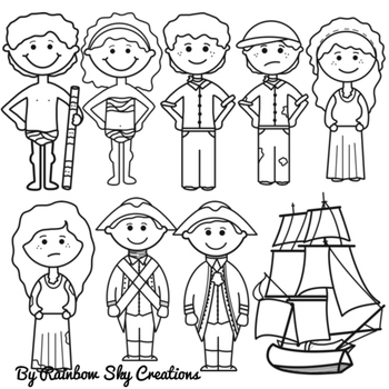 First Fleet Clipart.