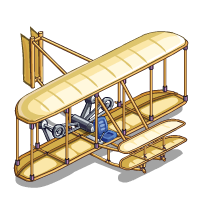Wright Brothers Airplane Clipart.