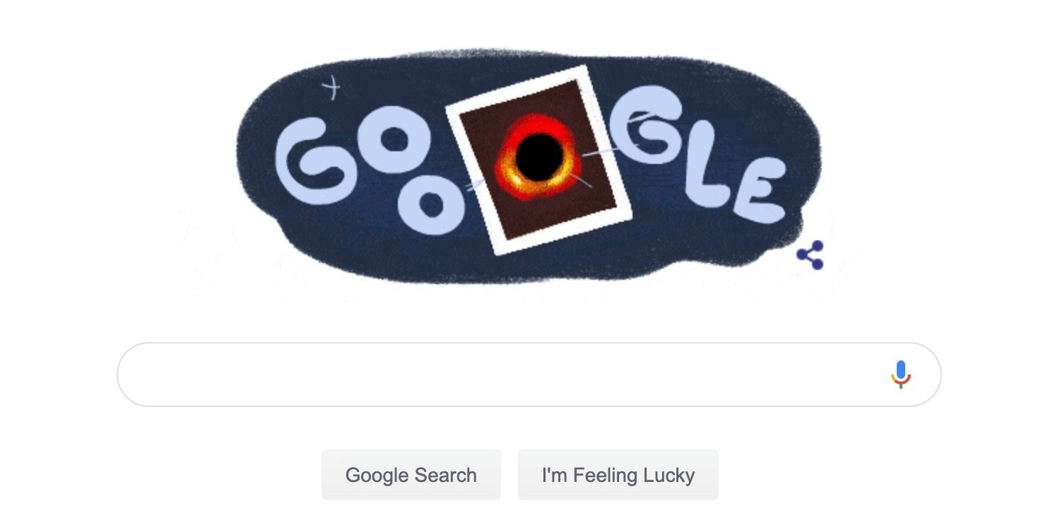 Google celebrates first black hole image with \'special.