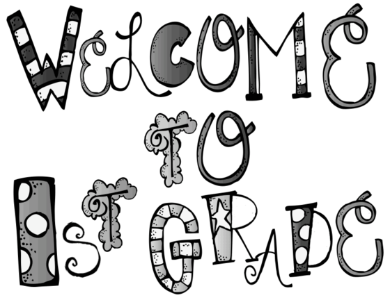 First Grade Clipart Black And White.