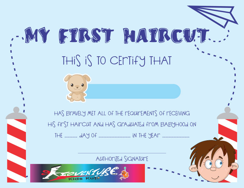 my first haircut certificate template - first haircut clip art clipground
