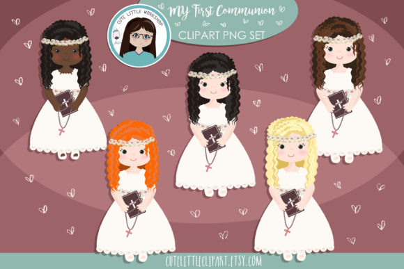 First Holy Communion Girl Cliparts.