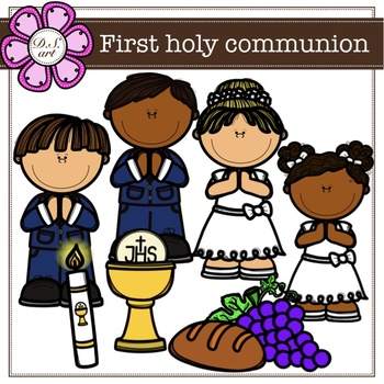 First holy communion Clipart (color and black&white).