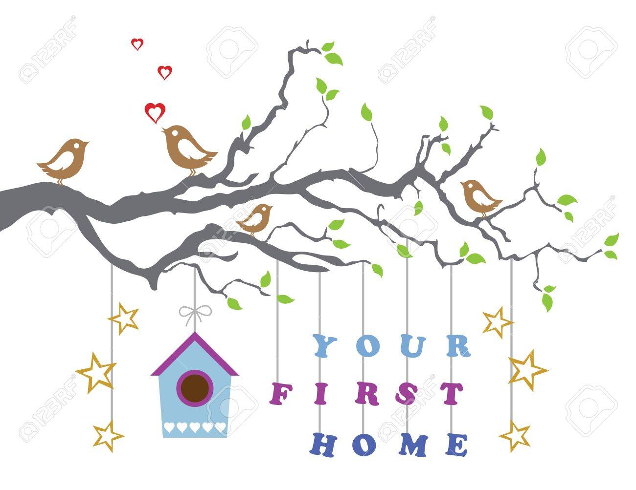 Your first home house moving.