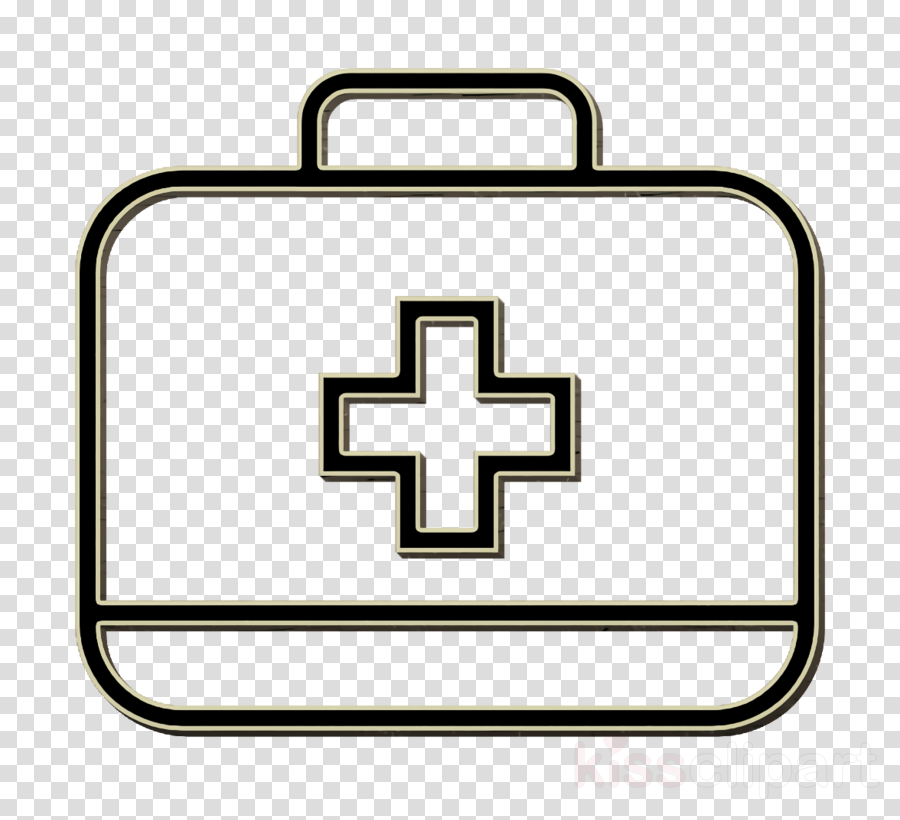 bag icon first aid icon medical bag icon clipart.
