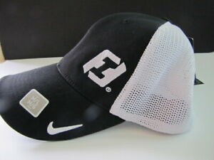Details about NEW Nike Golf Hat Flexfit Mesh Nike Black White First  Interstate Bank Logo NWT.