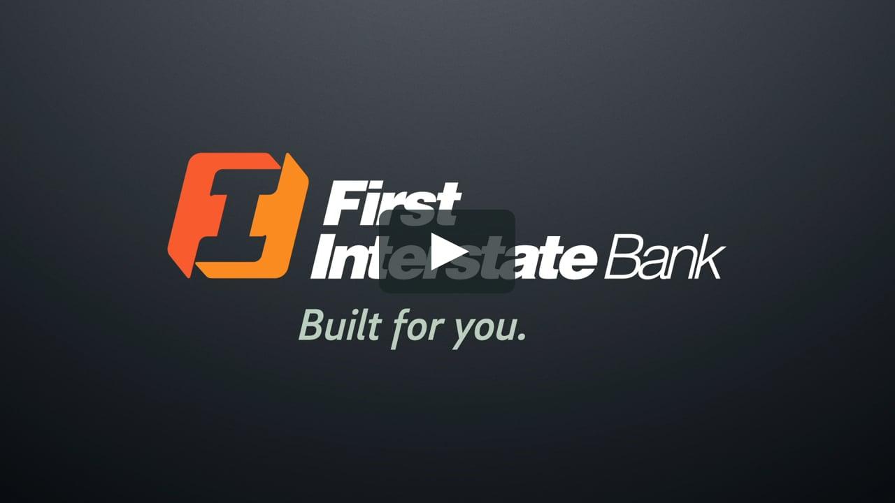 First Interstate Bank logo endtag : design explorations.