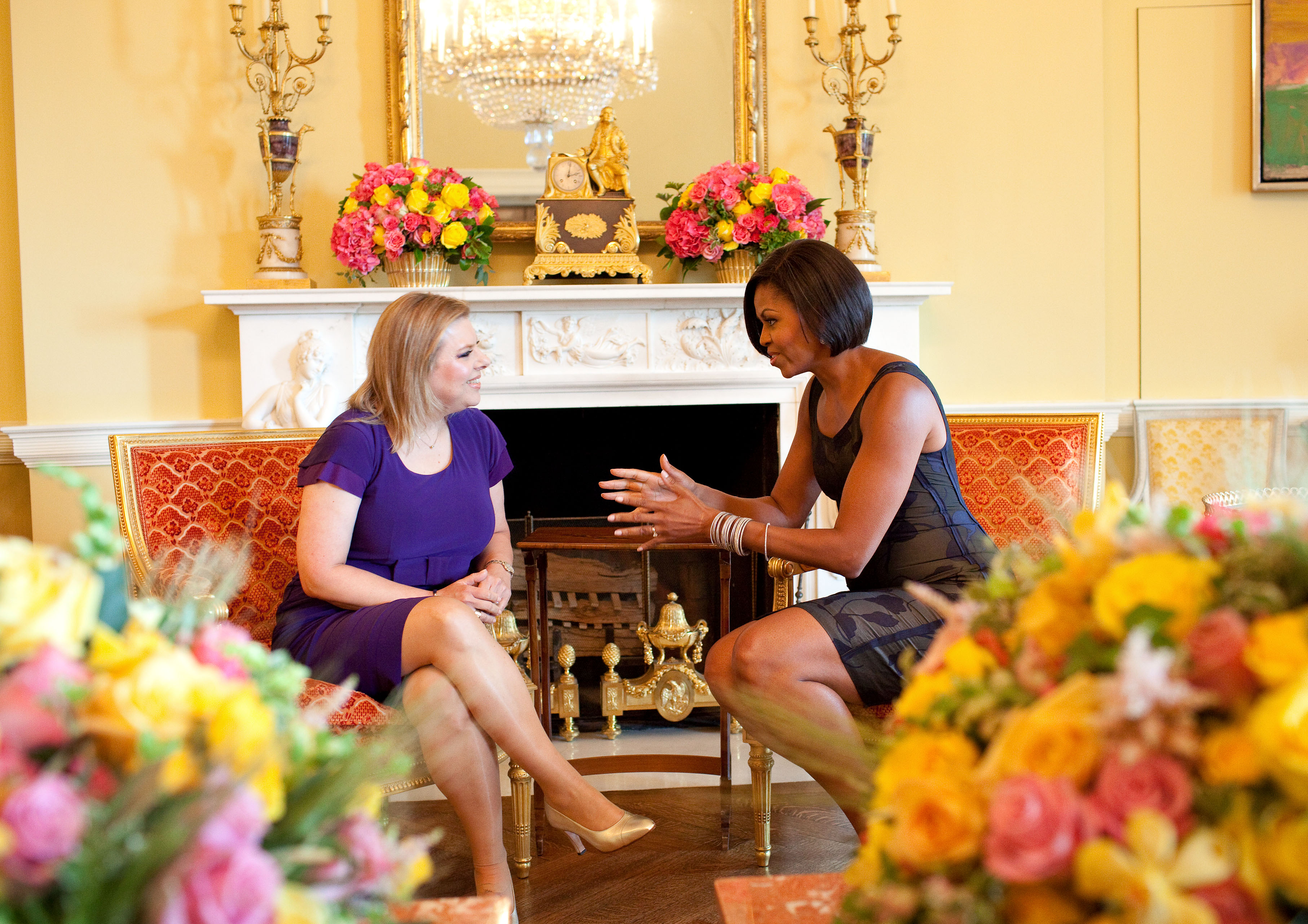 Free, Public Domain Image: First Lady Michelle Obama Sitting and.