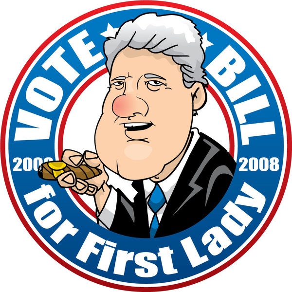 Bill Clinton For First Lady by CuddleswithCats on DeviantArt.