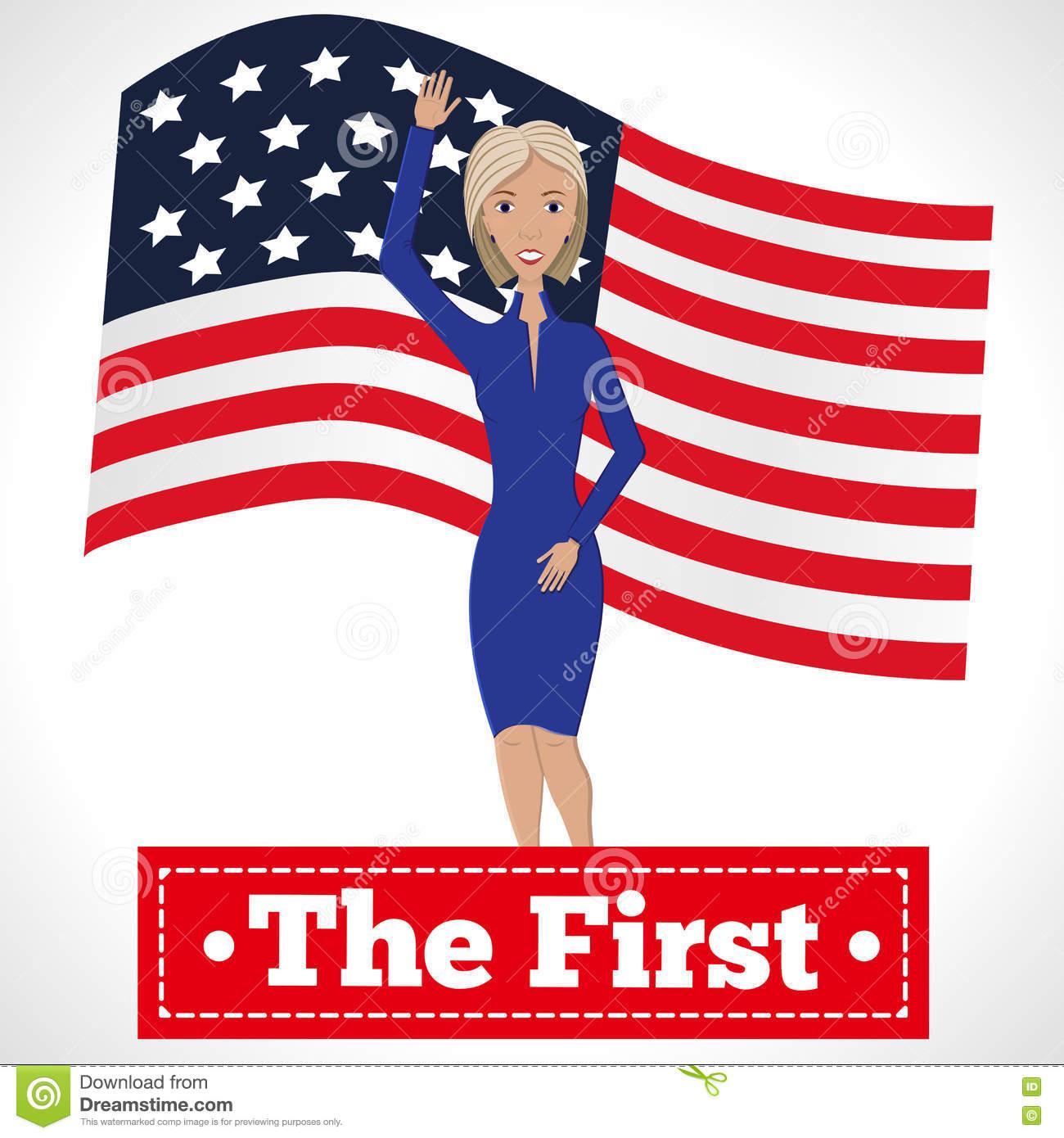 Woman president clipart.