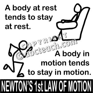 Newtons First Law Clipart.