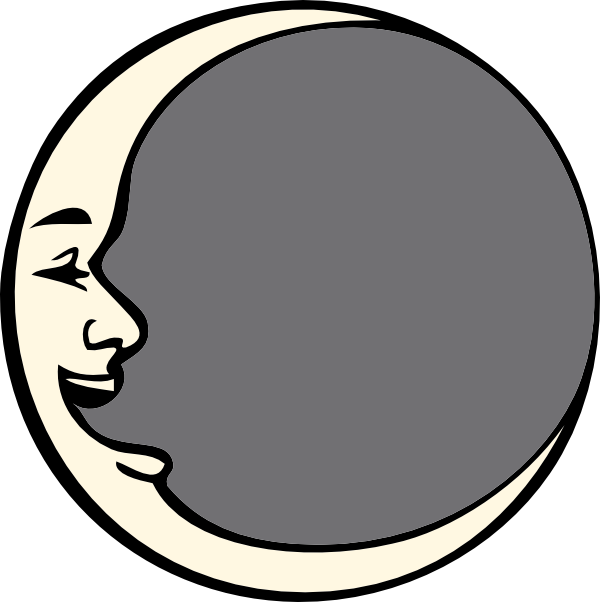 man in the moon clipart #12