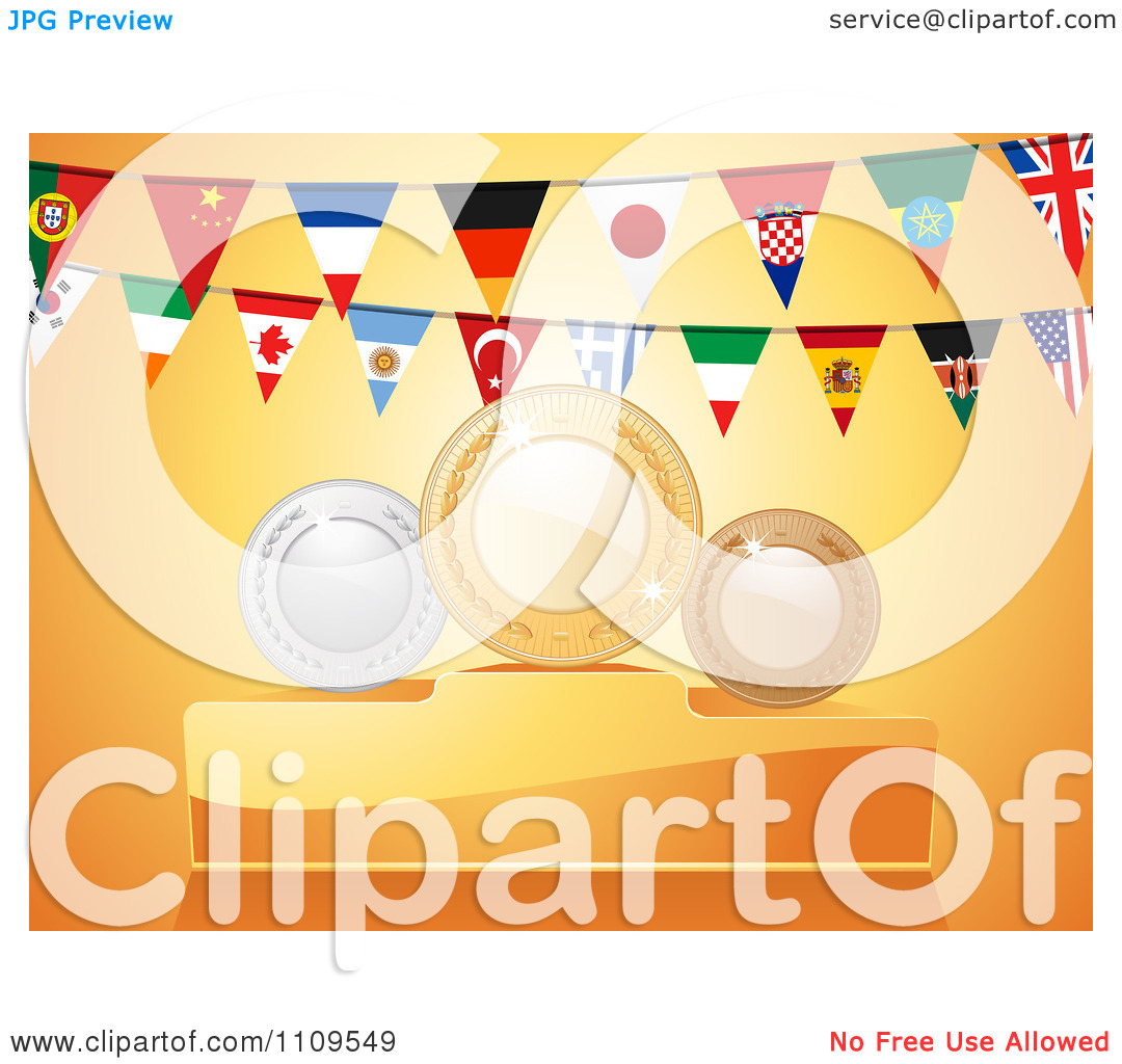 Clipart National Flag Bunting Flags And First Second And Third.