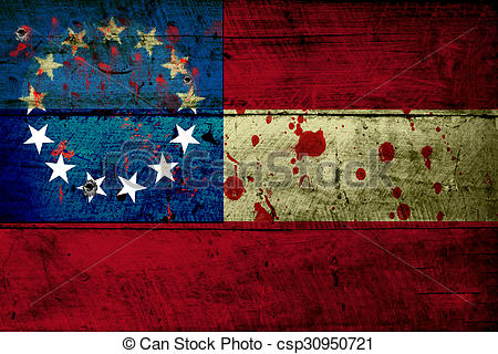 Stock Photo of Grunge flag of Confederacy (1).