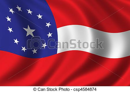 Stock Photo of Confederate Flag.