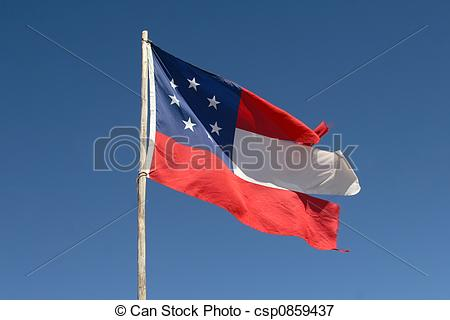 Picture of The First National Confederate Flag.