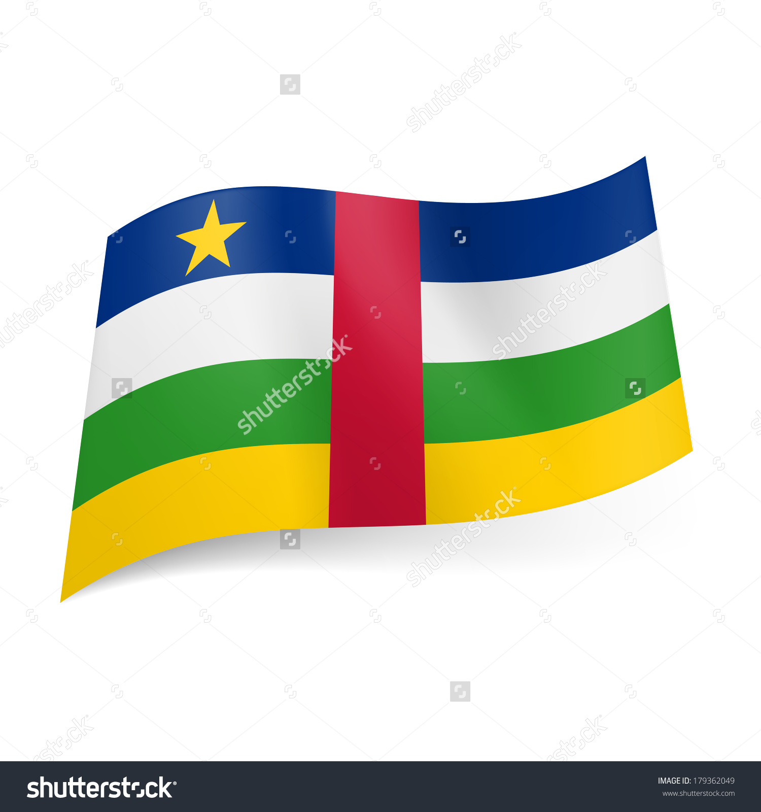 National Flag Central African Republic Blue Stock Vector 179362049.