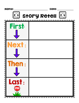 First Next Last Story Sequencing Worksheets & Teaching.
