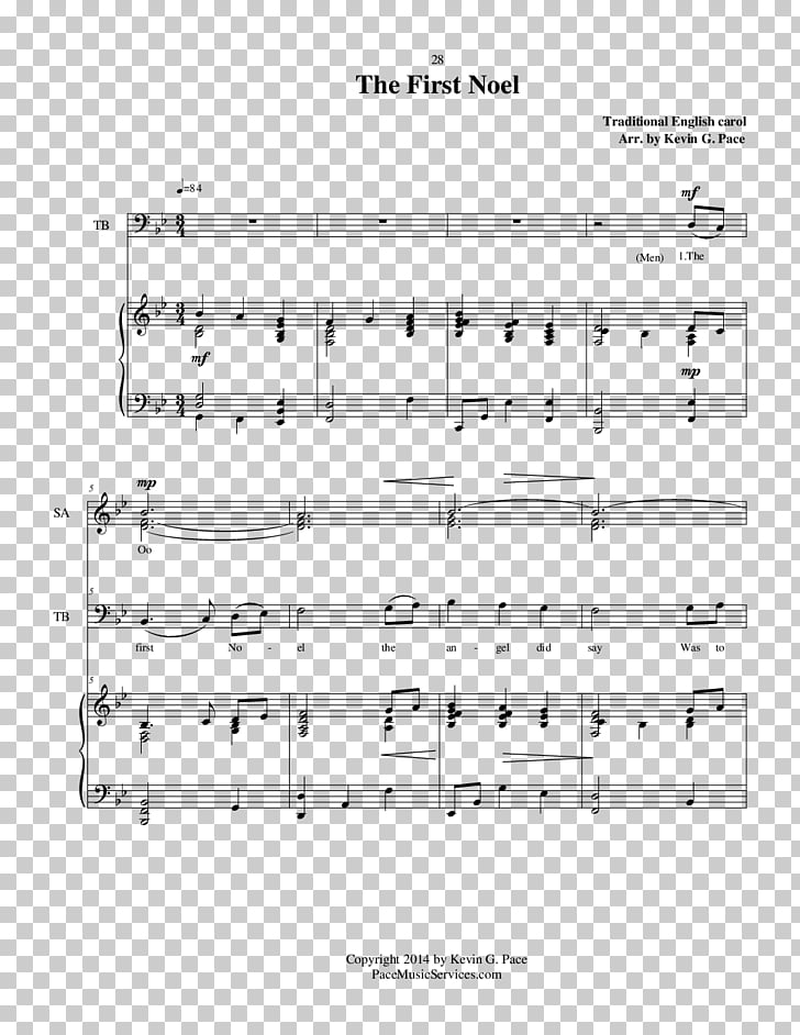 Sheet Music The First Noel Pachelbel\'s Canon Piano, sheet.
