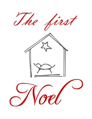 The First Noel {printable.