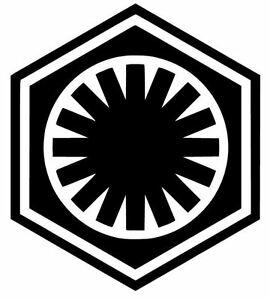 Details about FIRST ORDER STAR WARS LOGO VINYL DECAL/STICKER CHOOSE  SIZE/COLOR.