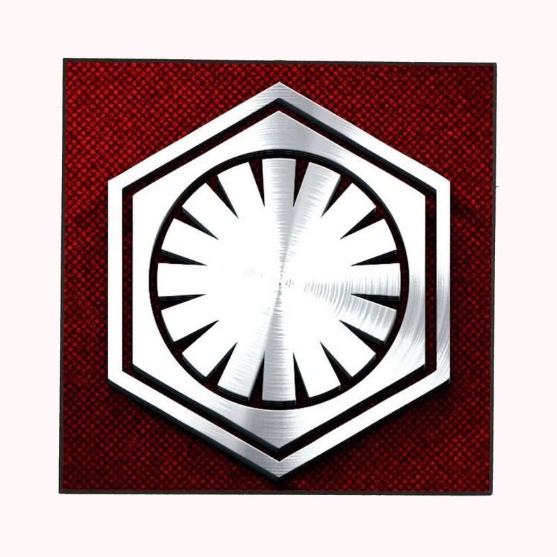 THE FIRST ORDER LOGO (STAR WARS) WOODEN WALL PLAQUE.