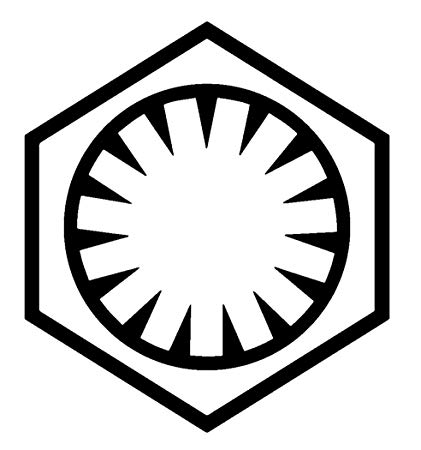 Amazon.com: Star Wars Force Awakens First Order Logo, Red.