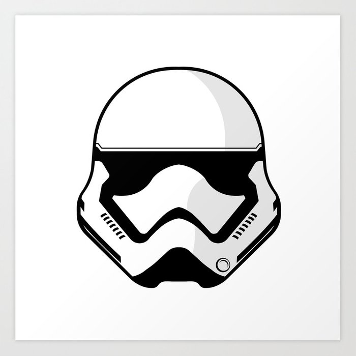 First Order Stormtrooper Art Print by jamnepo.