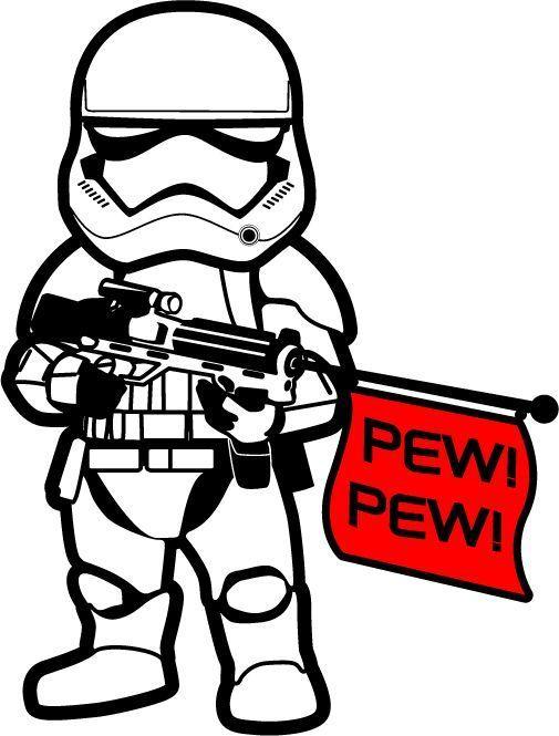 starwars the force awakens 1st order stormtrooper pew! pew.