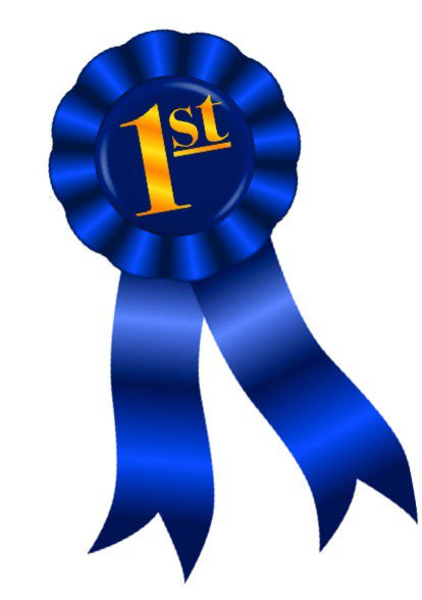 Blue Ribbon First Place Clipart.