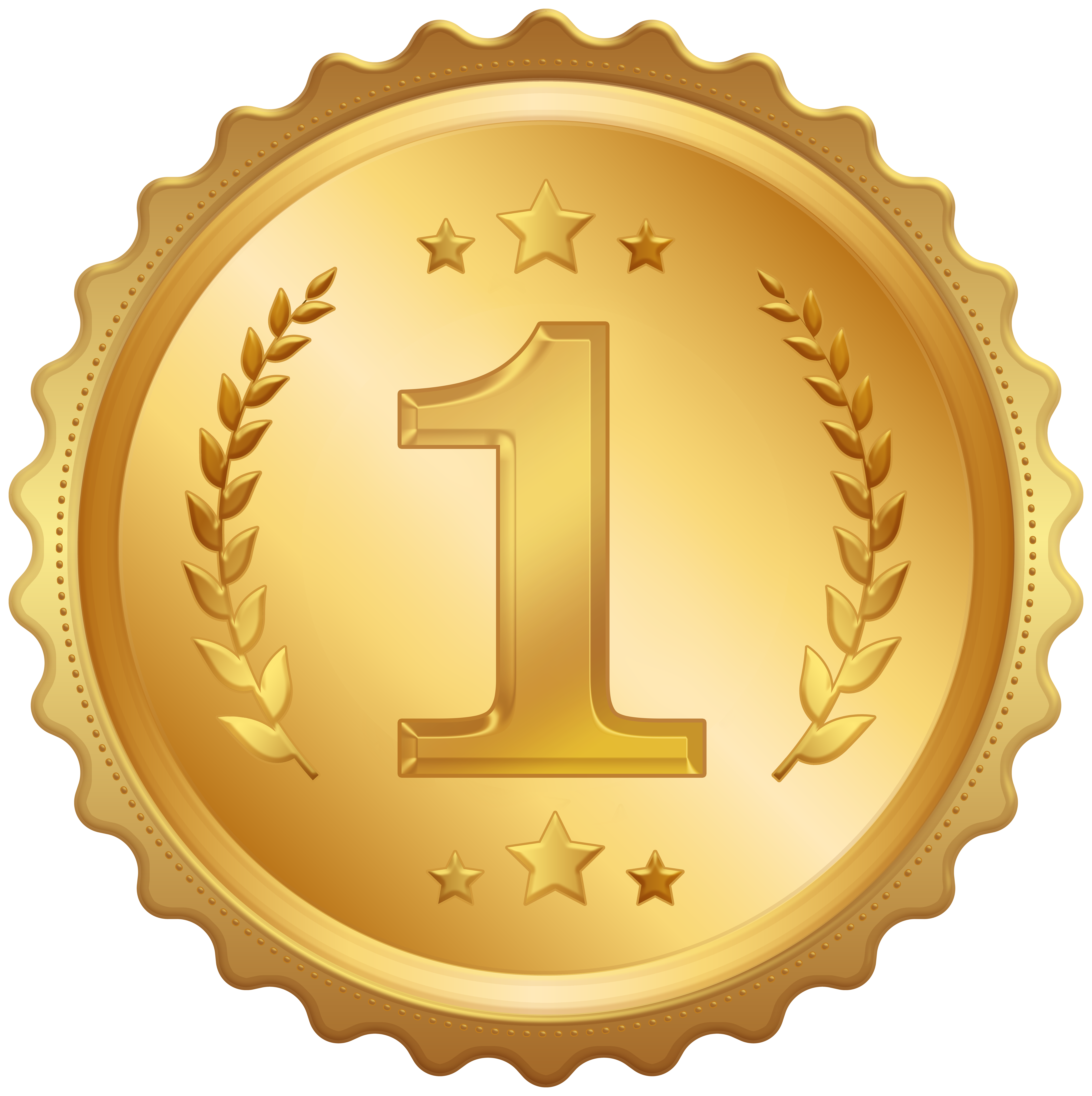 First Place Medal Badge Clipart Image.