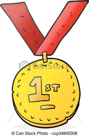 cartoon first place medal.