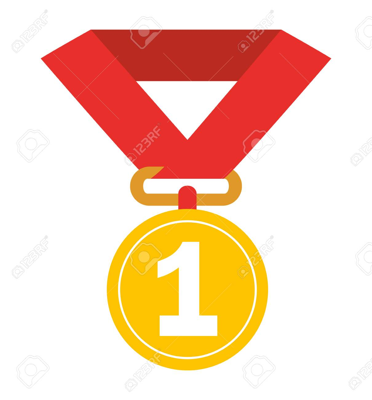 first place medal isolated icon design, vector illustration ...