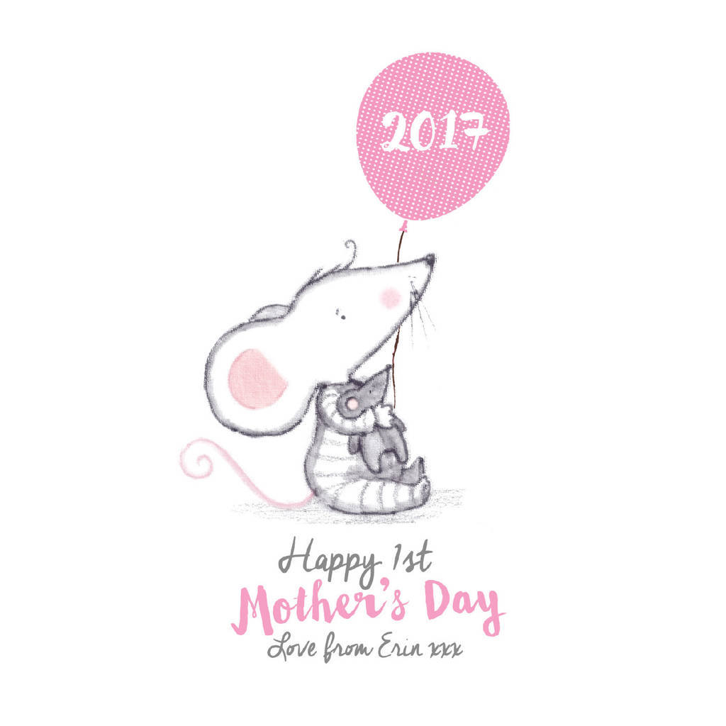 personalised first mother's day card by rosie & radish.