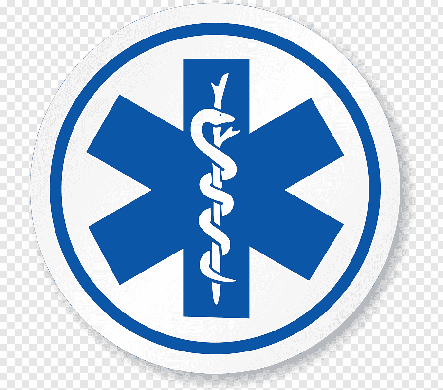 Snake on tree branch logo, Certified first responder.