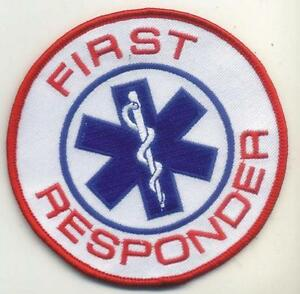 Details about First Responder Round Star of Life Emblem Patch 3\