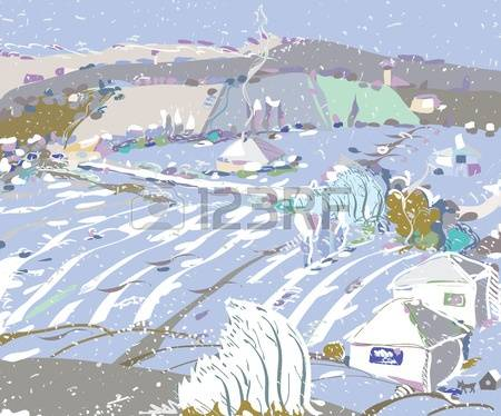 First Snow Stock Vector Illustration And Royalty Free First Snow.