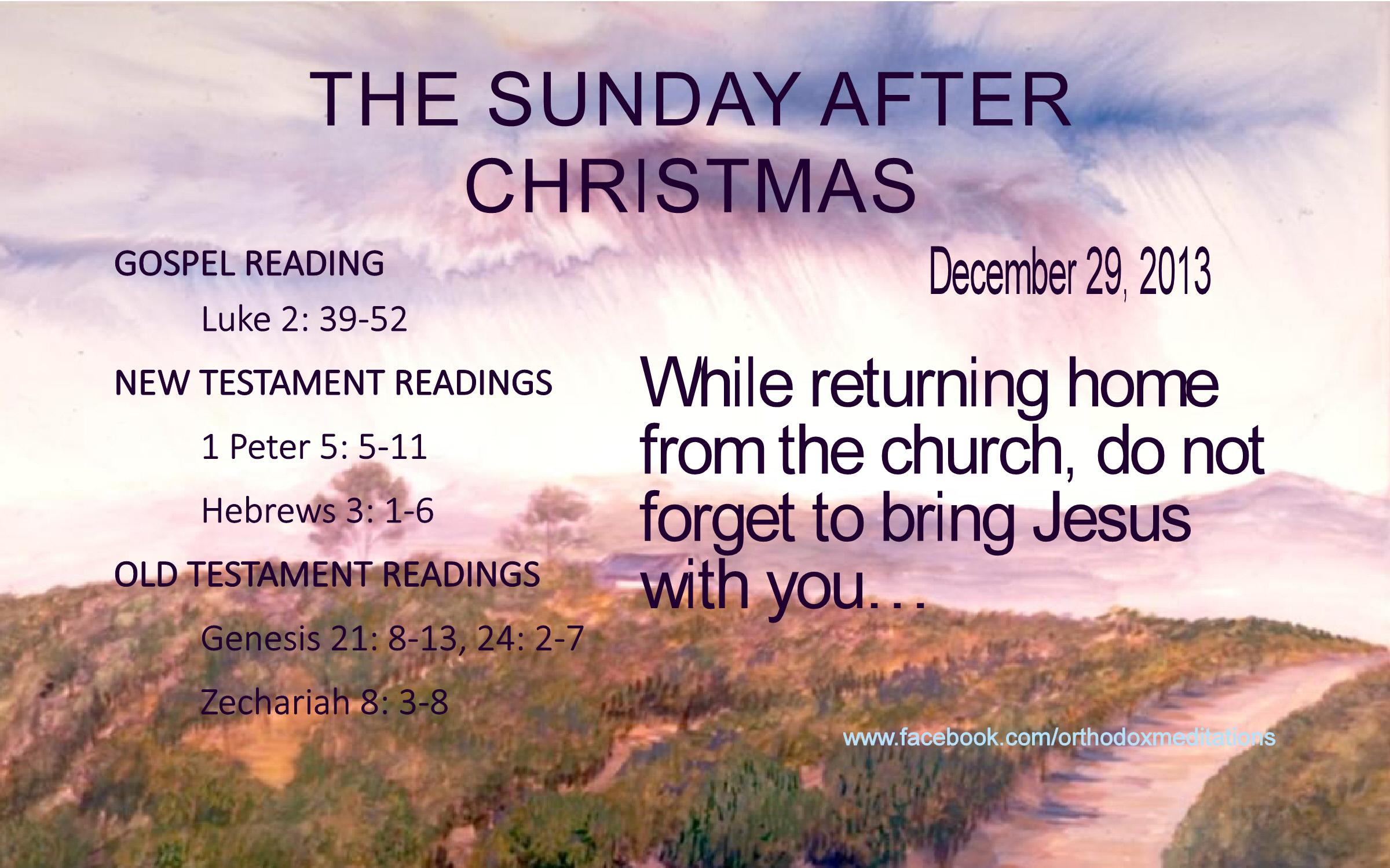 THE SUNDAY AFTER CHRISTMAS.