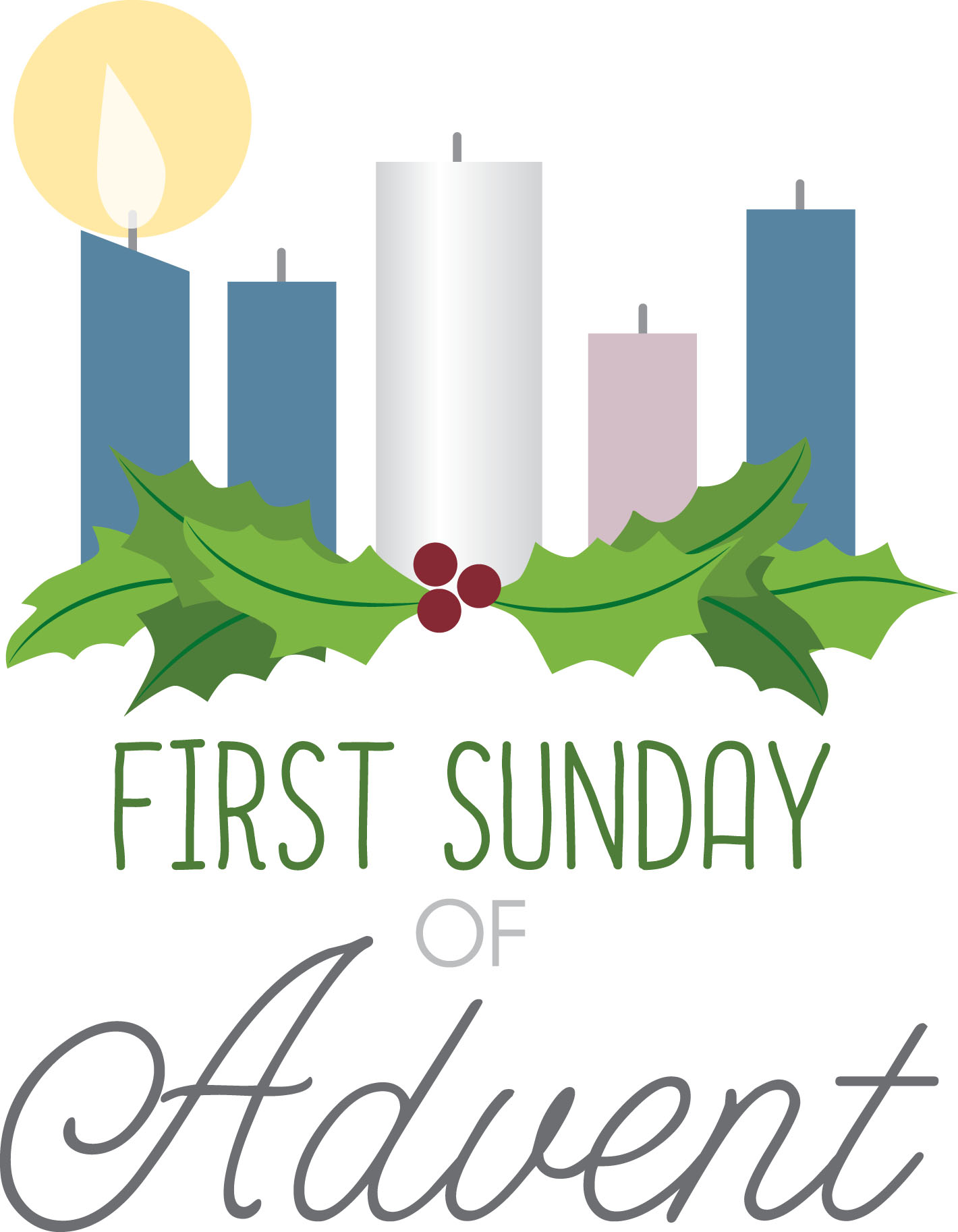First Sunday In Advent Clipart.