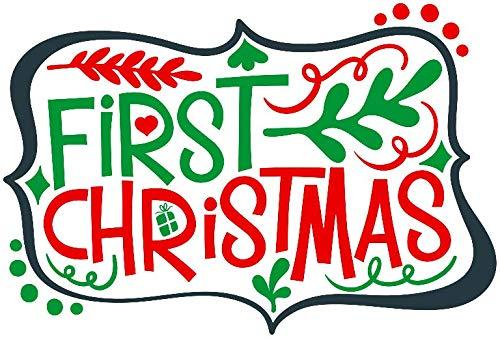 Amazon.com: Christmas Vinyl Decal/First Christmas Baby.