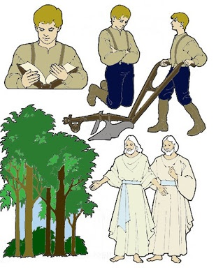 First vision clipart clipground for Joseph smith first vision coloring page