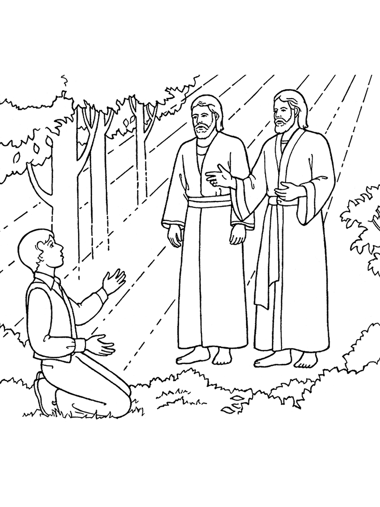 The First Vision: Joseph Sees God the Father and Jesus Christ.