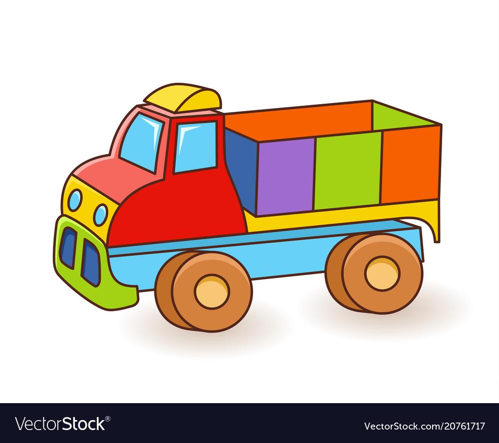 Toy truck flash card kids wall art first word.