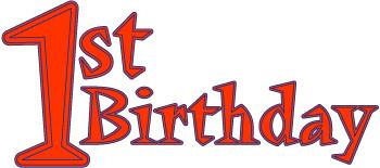 1st birthday boy red clipart.