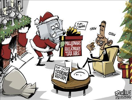 Obama Fiscal Cliff Cartoon 2.