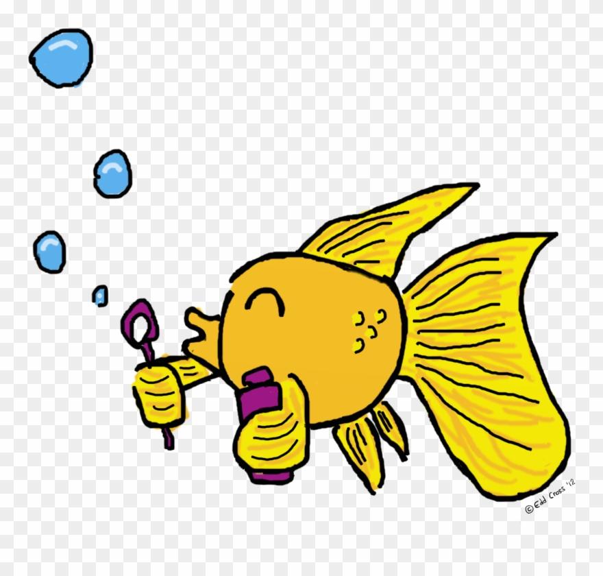 Fish Blowing Bubbles Illustration Clipart (#2067466).