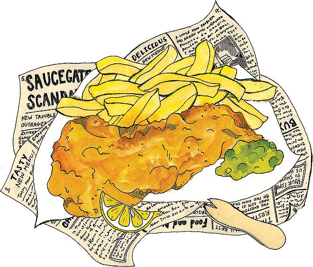 Fish and chips clipart 10 » Clipart Station.