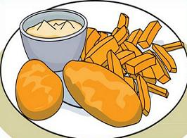 Free Fish and Fries Clipart.