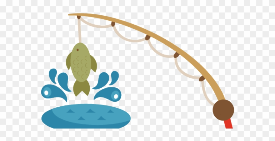 Fishing Pole With Fish Clipart.